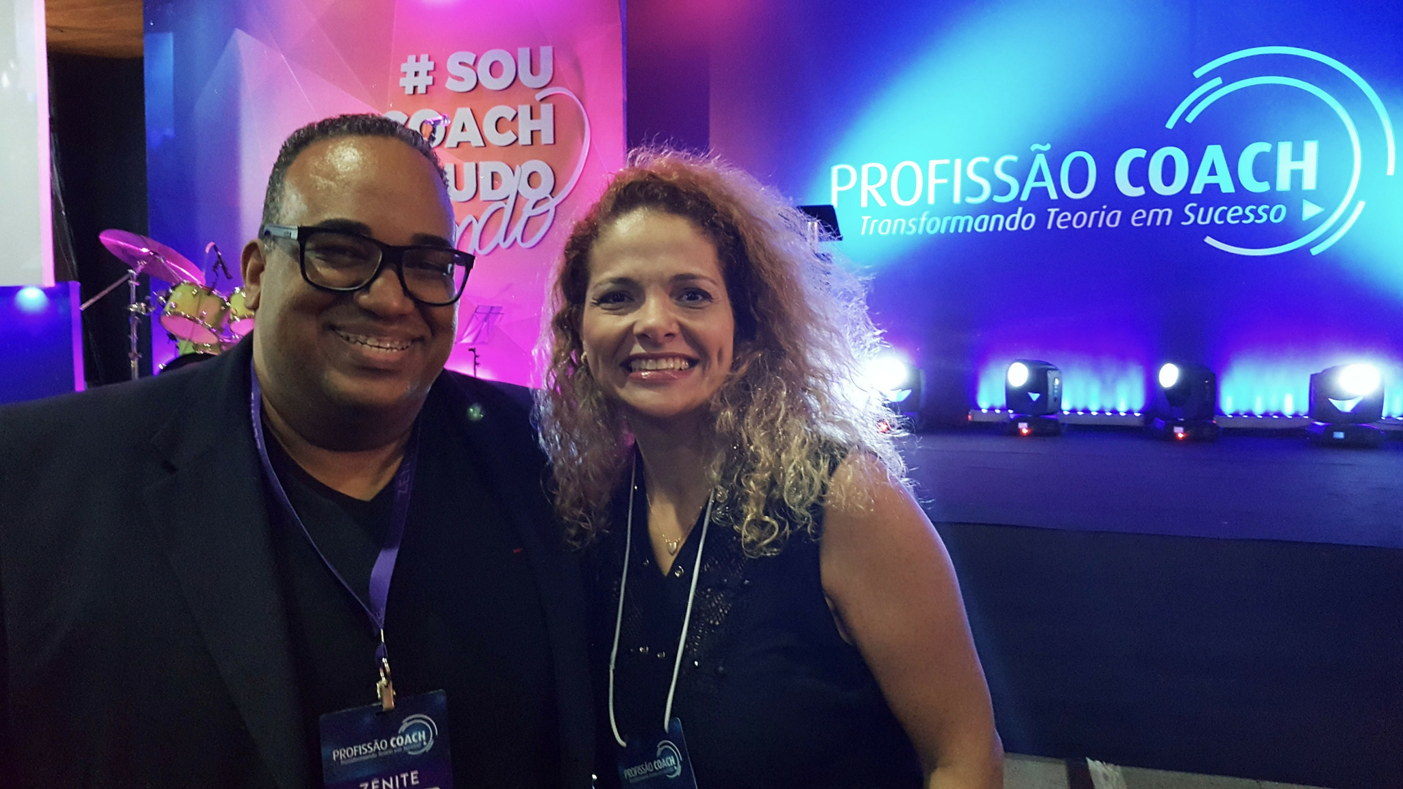 Patrícia Pedrozo com Wilton Neto no Profissão Coach