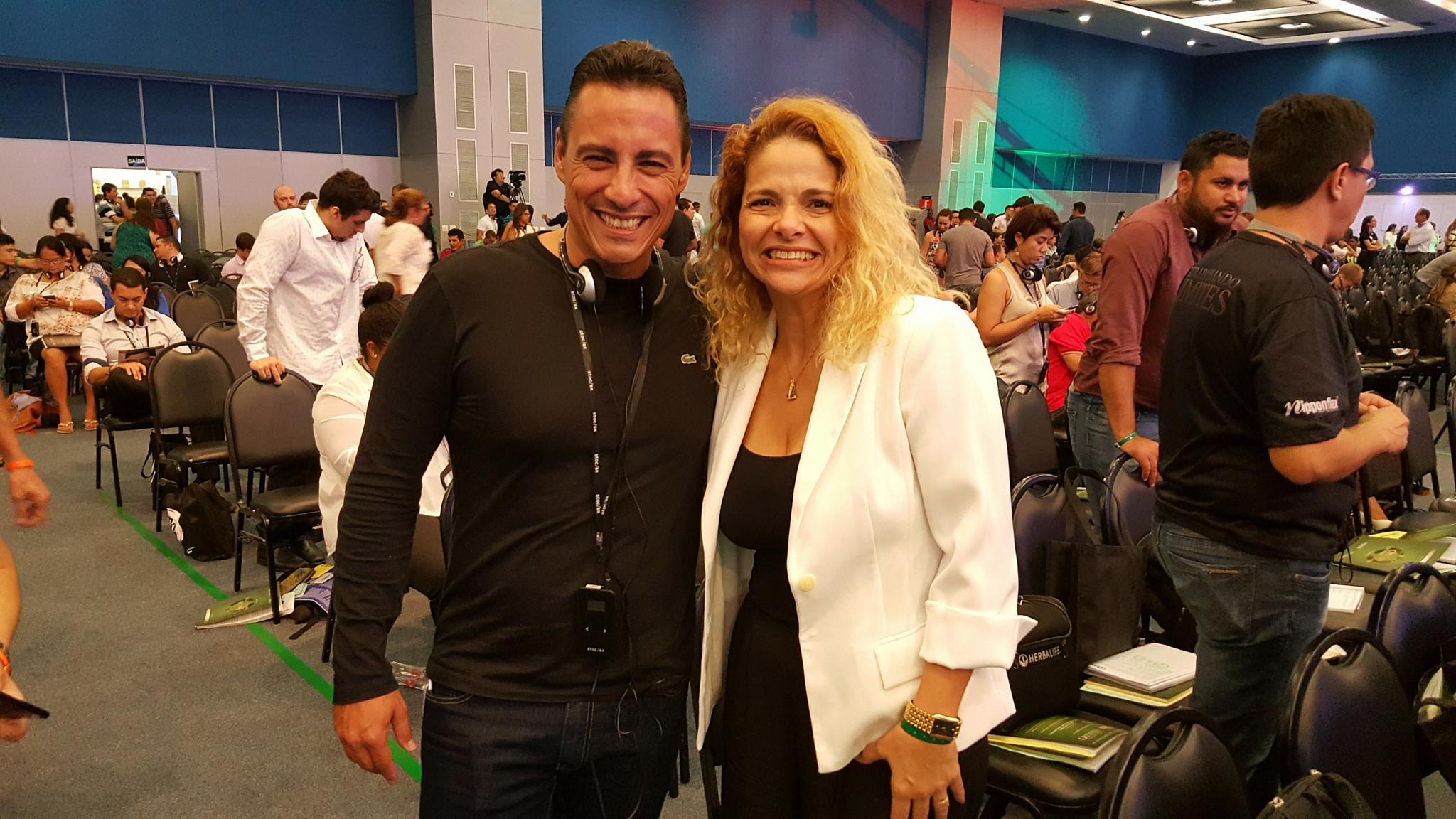Patrícia Pedrozo com Rodrigo Cardoso no Millionaire Mind Intensive 2016
