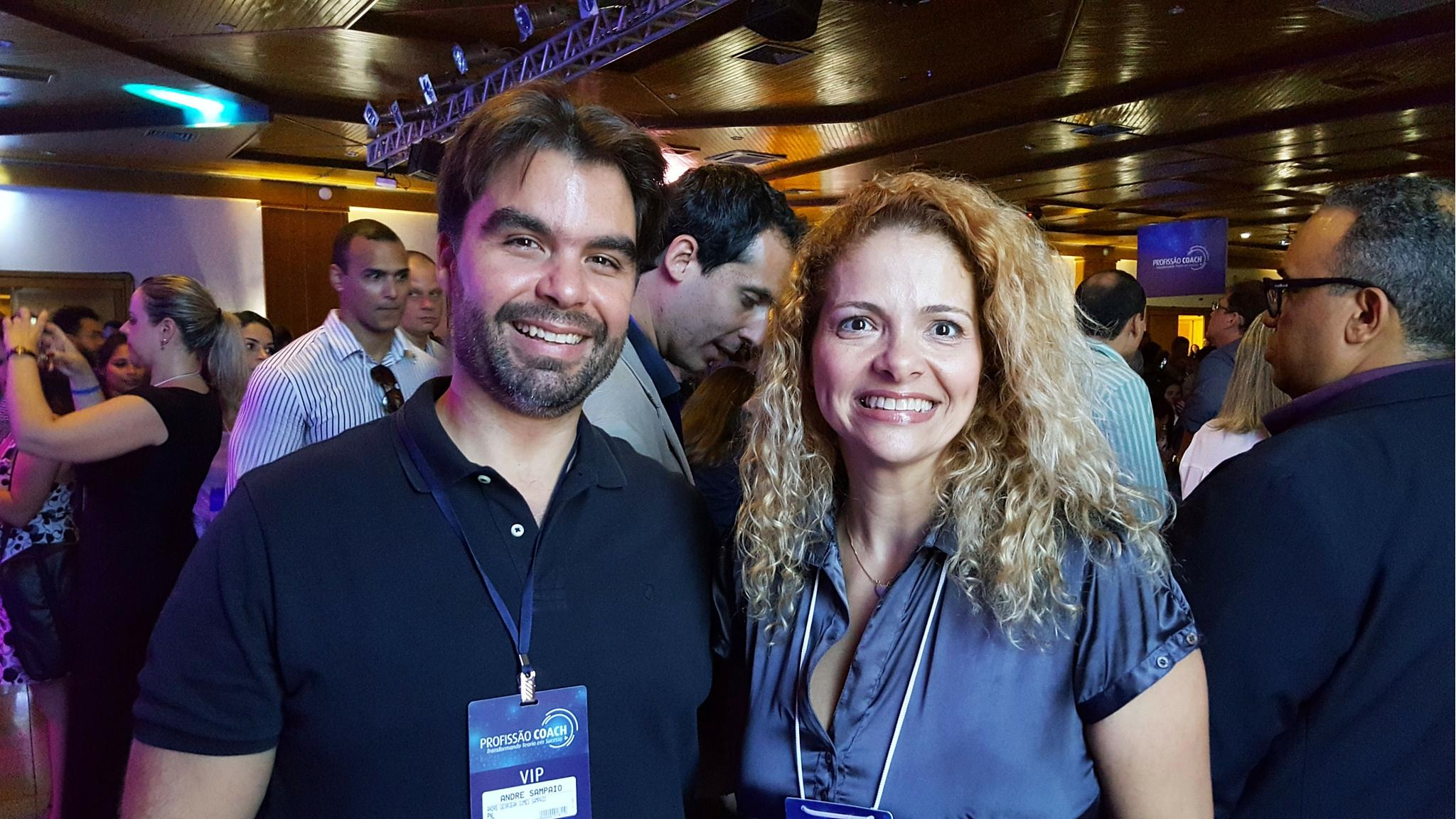 Patrícia Pedrozo com André Sampaio no Profissão Coach